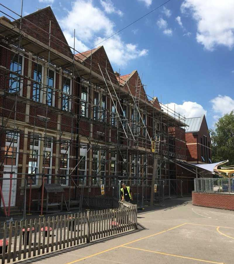 Residential Scaffold Project Flats - JSS Scaffolding Hampshire