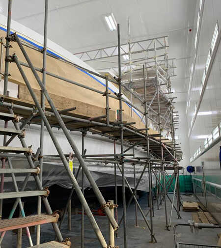 Boat Building Scaffold Marine Scaffolding Dry-Doc Boat Repair JSS