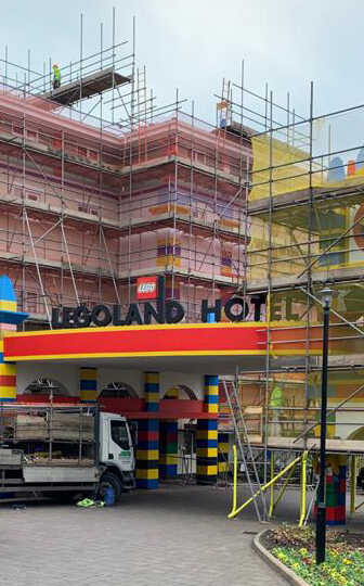 Commercial Scaffold Lego Land JSS Scaffolding