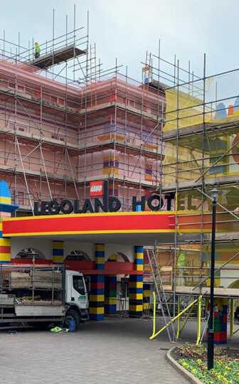 Commercial Scaffold Lego Land JSS Scaffolding