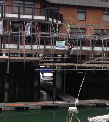 Marine Scaffold Harbour Repair JSS Scaffolding