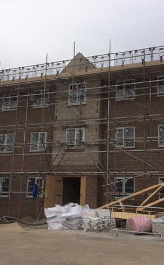 residential scaffold Jss Scaffolding Flat renovation Hampshire